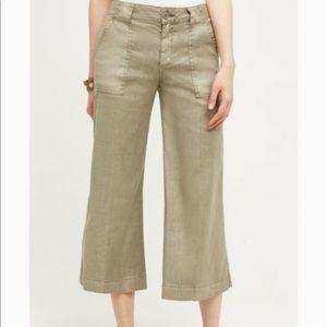 Level 99 Linen Wide Leg Cropped Pants